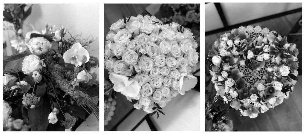 Rouwbloemen, witte bloemen, orchidee, uitvaart Gouda, uitvaartondernemer