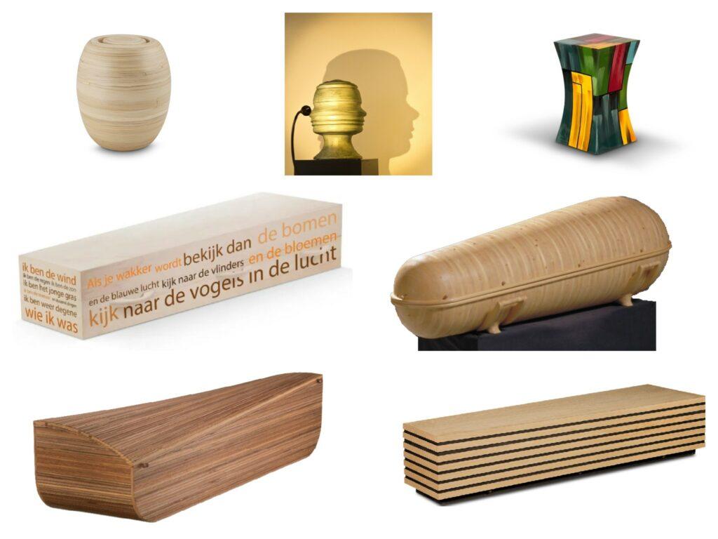 Voorbeelden van design opties in de uitvaart